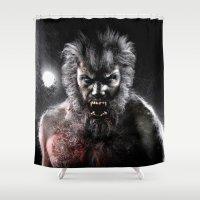 werewolf Shower Curtains featuring Werewolf by Joe Roberts