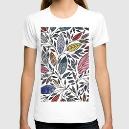 Leaf Illustration Pattern T-shirt