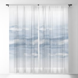 Watercolour Abstract Clouds Sheer Curtain