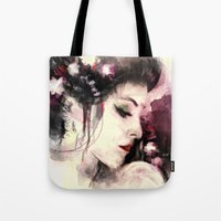 geisha Tote Bags featuring Geisha by Vincent Vernacatola