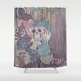 howdy cloudy Shower Curtain