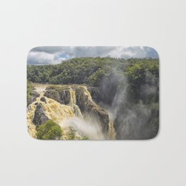 Beautiful wild waterfall Bath Mat