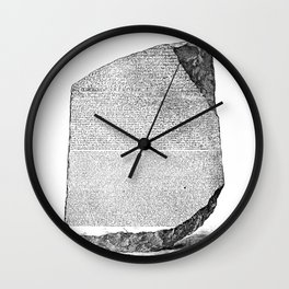 Egyptian Rosetta Stone Wall Clock