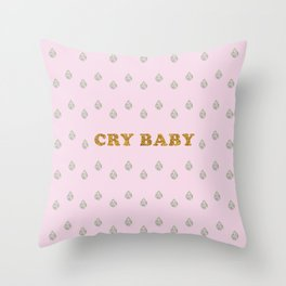 Lucent Tears (Cry Baby) Throw Pillow