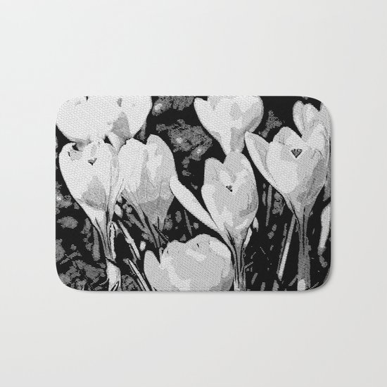 Floral Art Studio 29216 B&W Bath Mat