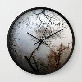 Misty Morning in Scotland Wall Clock