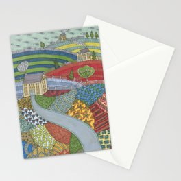 island patchwork Stationery Cards