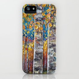 Colourful Autumn Aspen Trees iPhone Case