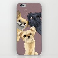 brussels iPhone & iPod Skins featuring Brussels Griffon by Bark Point Studio
