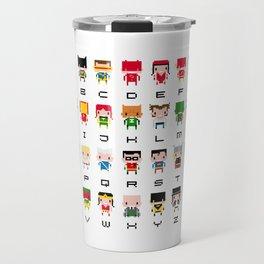 Superhero Alphabet Travel Mug