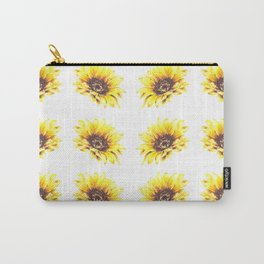 Watercolor Sunflower Petal Pattern Carry-All Pouch