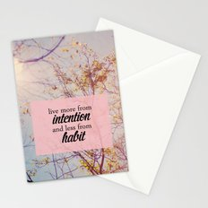 live from intention. Stationery Cards