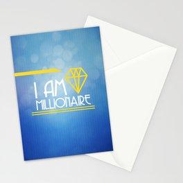 Positive Affirmation I am Millionaire Stationery Cards