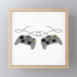 """Great Nice Game Shirt For Gamers """"I Level Up Big Bro"""" T-shirt Design Console  Framed Mini Art Print"""