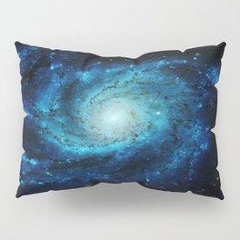 Spiral gAlaxy. Teal Ocean Blue Pillow Sham