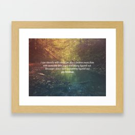 Figured Out Framed Art Print