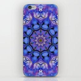 Summer sky Delphinium mandala iPhone Skin