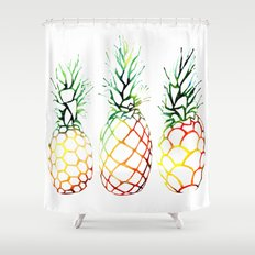 Retro Pineapples Shower Curtain