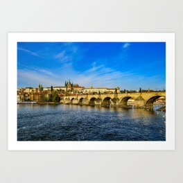 Charles Bridge in Prague Art Print