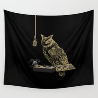 radio Wall Tapestries featuring Radio Owl by October's Very Own