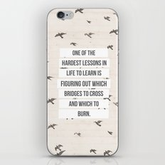 life lessons iPhone & iPod Skin