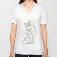 anime V-neck T-shirts featuring Anime by Peggy Murphy