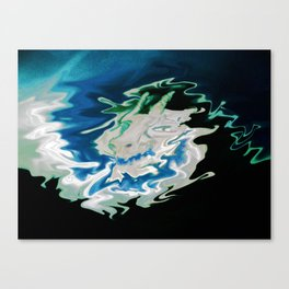 Dragon made of clouds Canvas Print