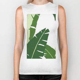 Watercolor tropical leaf XI Biker Tank