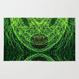 Acidic Alien - Green Rug