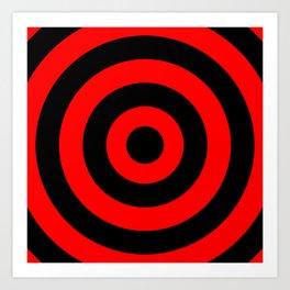 Target (Black & Red Pattern) Art Print