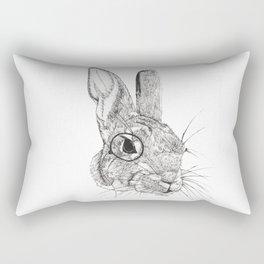Observing Bunny Rectangular Pillow