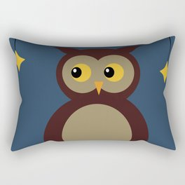 Brown Owl Moon Rectangular Pillow