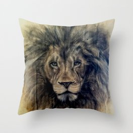 Rawr (coffee paper) Throw Pillow