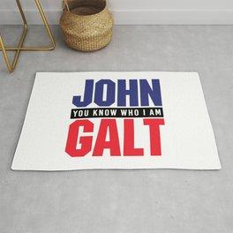 JOHN GALT - YOU KNOW WHO I AM Rug
