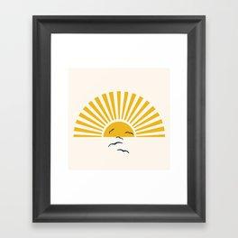 Minimalistic Summer I Framed Art Print