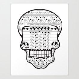 B/W Skull 1 Art Print