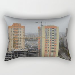 Construction of a multi-storey residential building, new building Rectangular Pillow