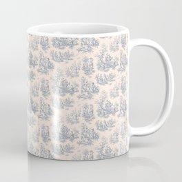 Chevron Toile, Blue / White Coffee Mug