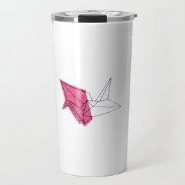 Pink Crane Travel Mug