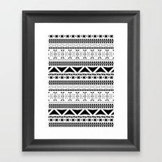 Black & White Pattern Framed Art Print