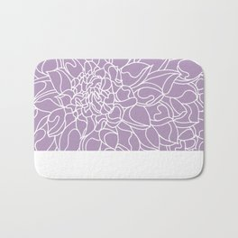 Chrysanthemum Lavender Collection Bath Mat