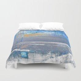 Blue Color Patches Duvet Cover