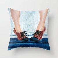 heels Throw Pillows featuring Heels by MardyArts
