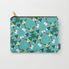 Kaleidoscope aqua Carry-All Pouch