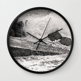 Angry Sea I Wall Clock