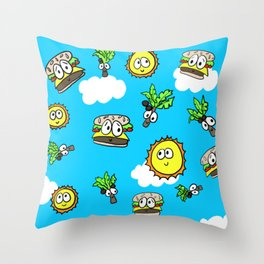 Cheeseburgers in Paradise Throw Pillow