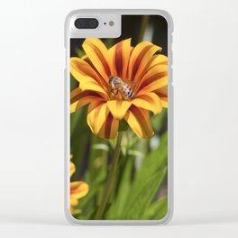Beautiful Flower with Bee Clear iPhone Case
