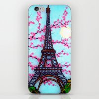 eiffel tower iPhone & iPod Skins featuring Eiffel Tower by ArtLovePassion