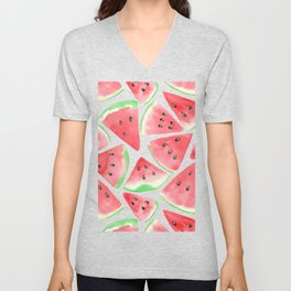Watermelon slices pattern Unisex V-Neck