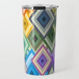 geometric colour Travel Mug